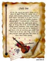 Chill Out magick spell