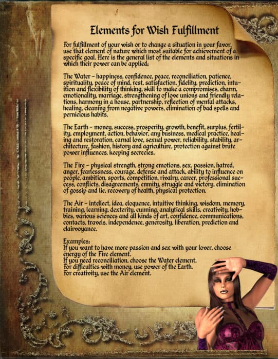 Elements for Wishes - LaPulia Book of Shadows