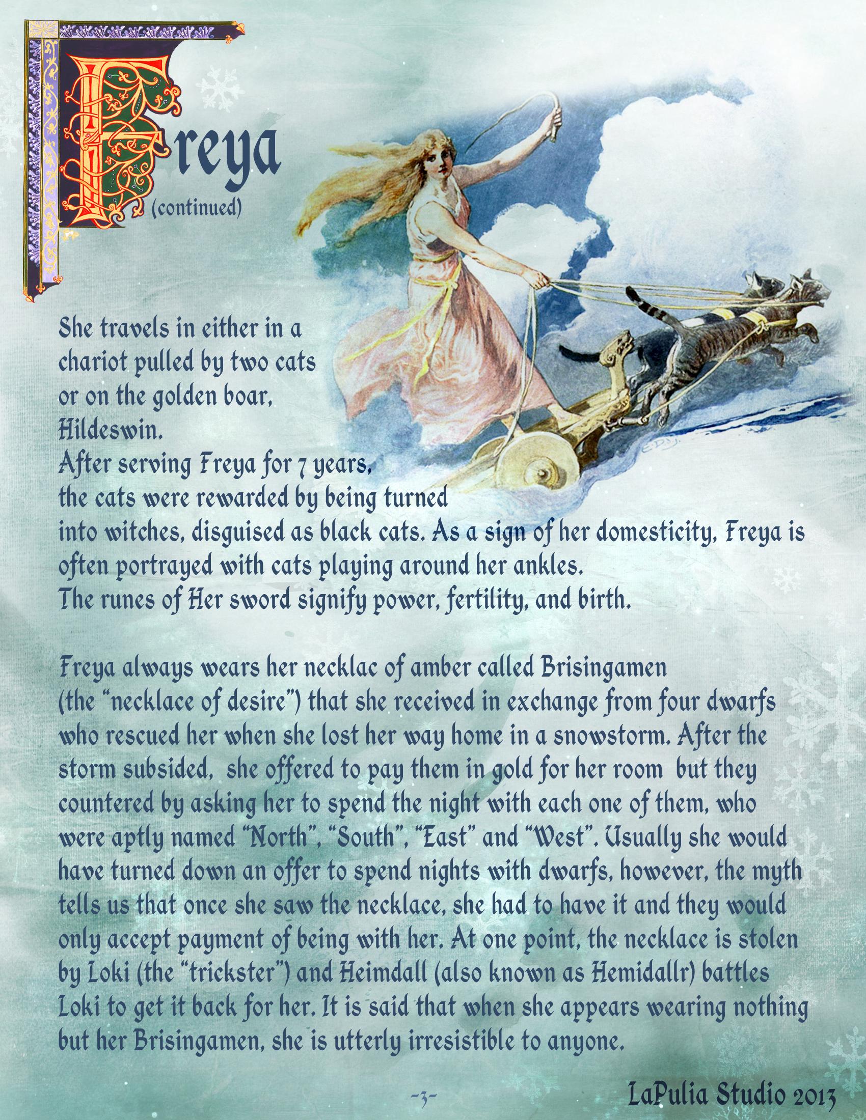 Goddess Freya Page 3 Lapulia Book Of Shadows