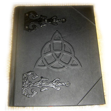 Merlin's Grimoire Book of Shadows with Triquetra