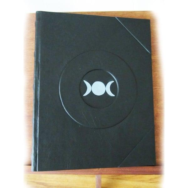 Silver Triple Moon Book of Shadows