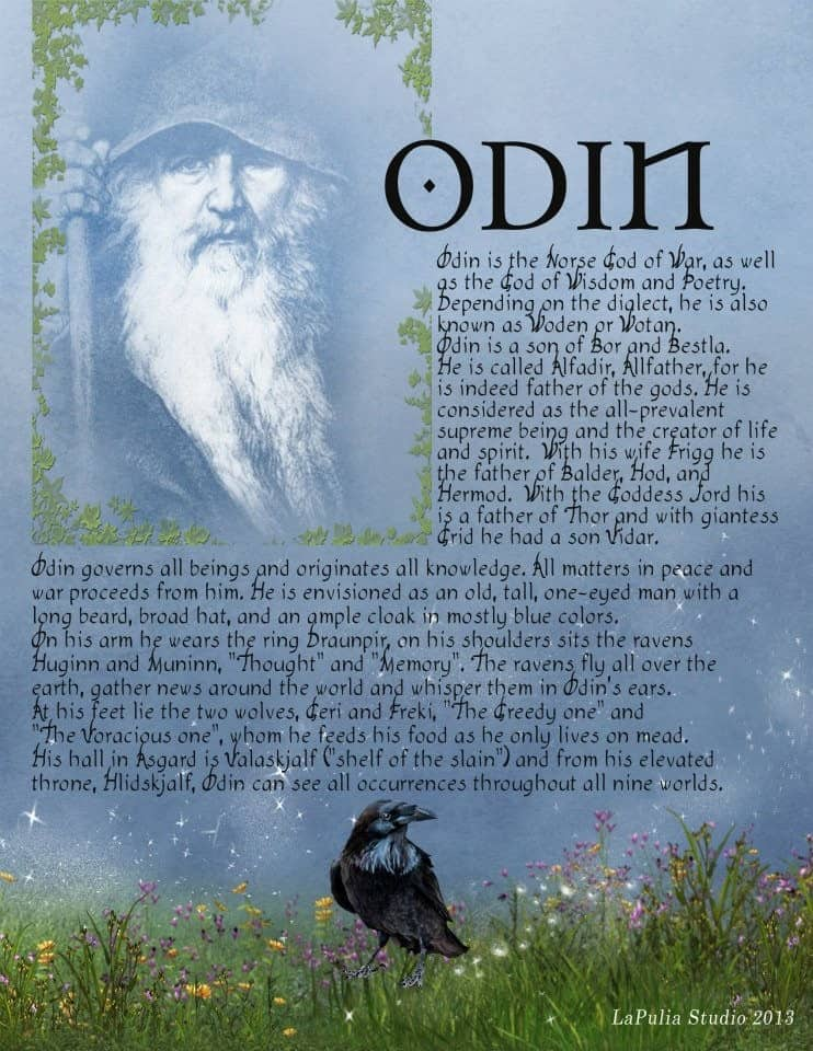 Great Odin-2 Pages for Your Book of Shadows - LaPulia Book of Shadows